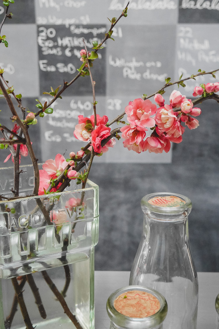 blossom and calendar blackboard via perfectly imperfect living