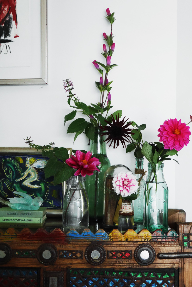 dahlias via perfectly imperfect living