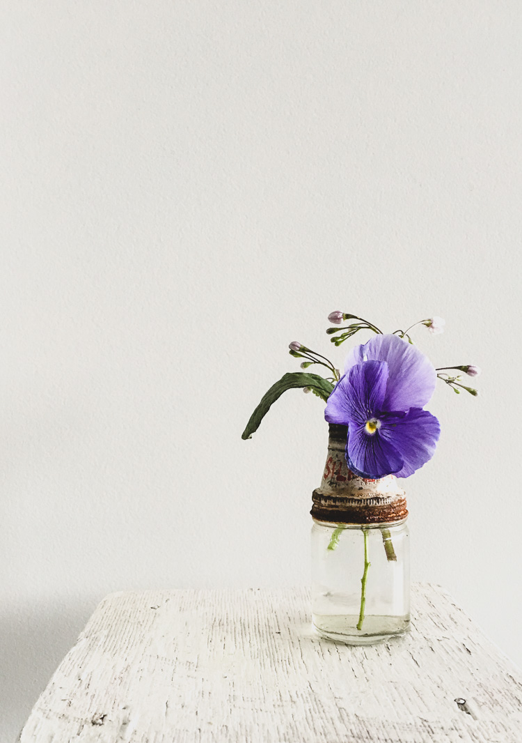 vintage florals via perfectly imperfect living