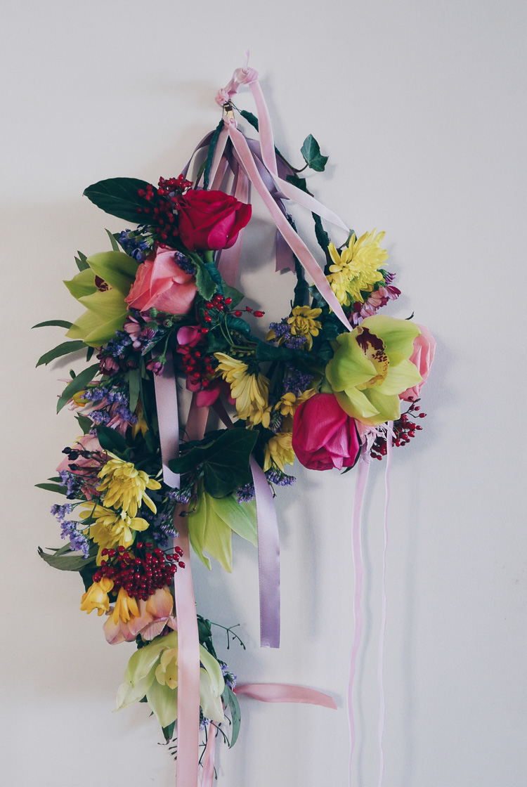 floral crowns via perfectly imperfect living