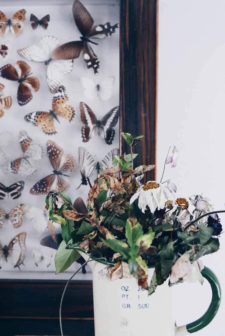 lovely dead flowers via perfectly imperfect living