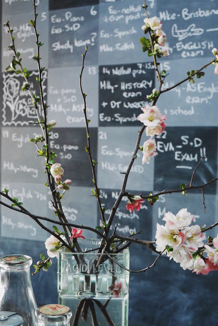 chalk board calendar via perfectly imperfect living