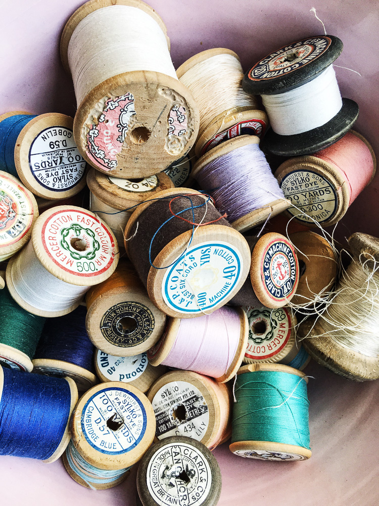 cotton reel collection via perfectlyimperfectliving.com