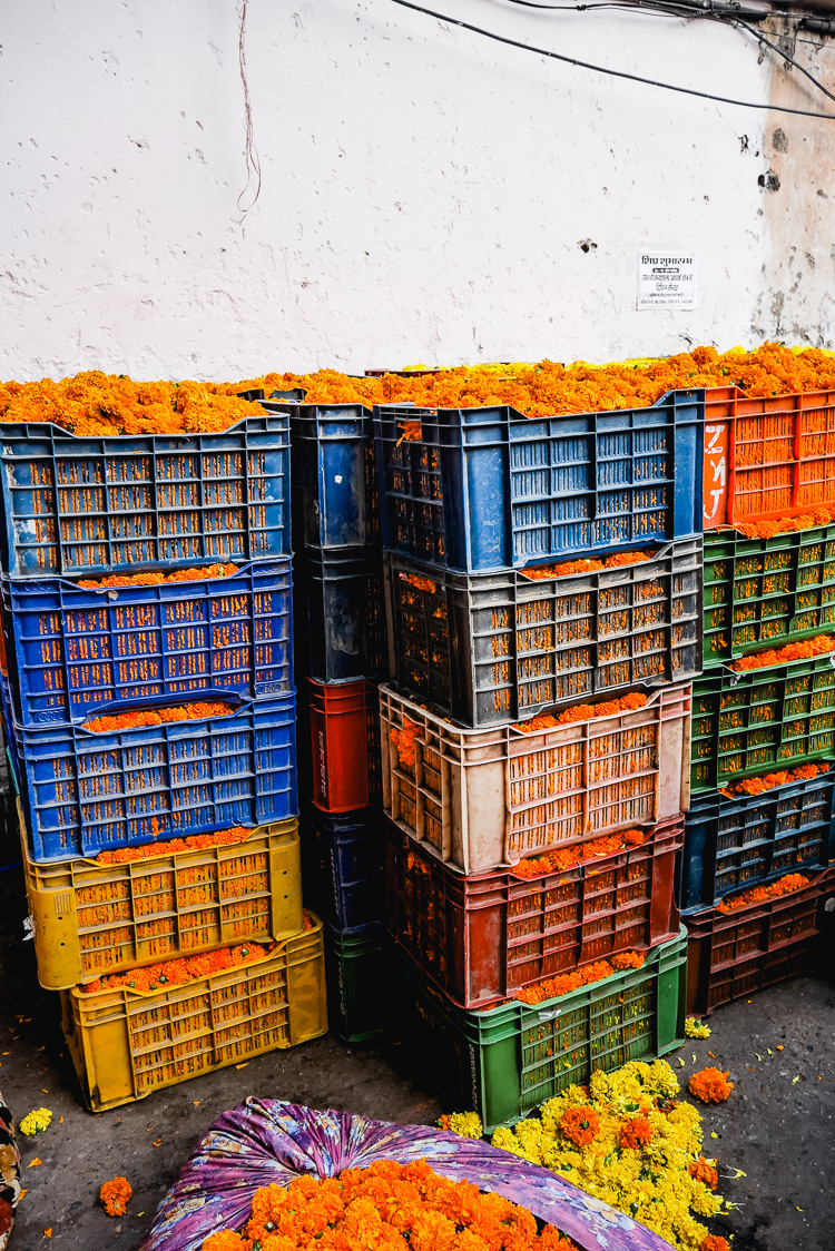 crates of marigolds via perfectly imperfect living