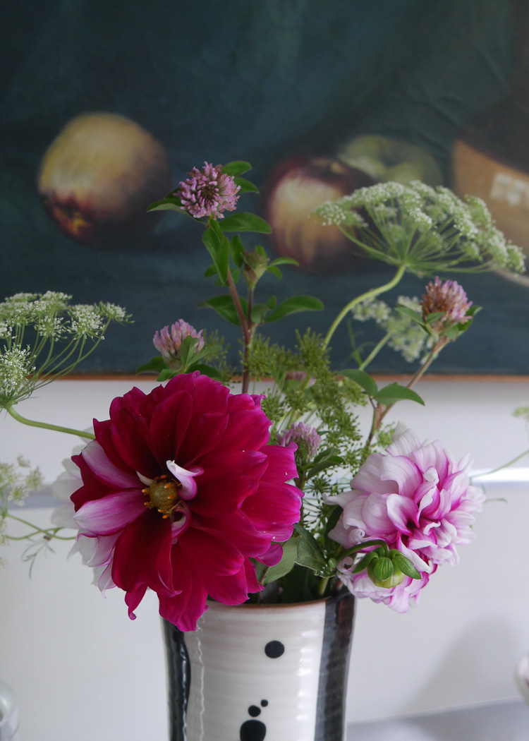 dahlia and still life via perfectly imperfectly living