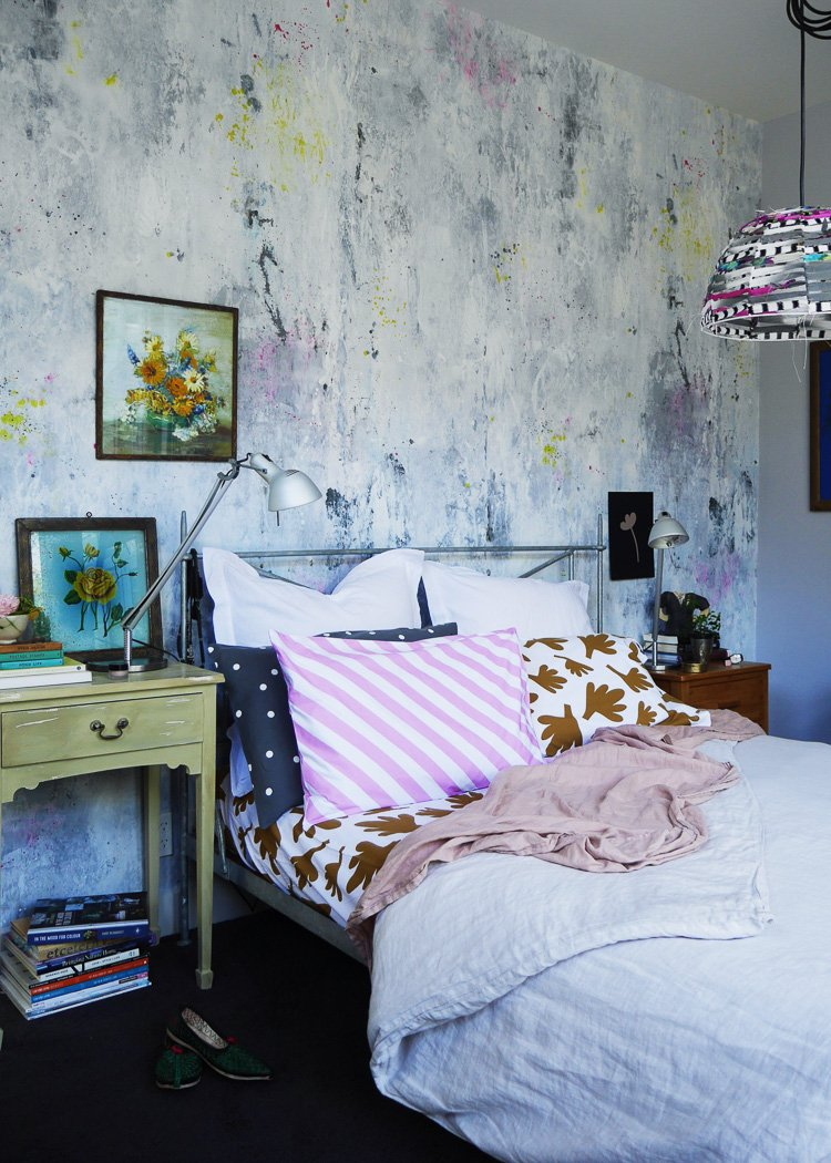 eclectic bedroom via perfectly imperfect living