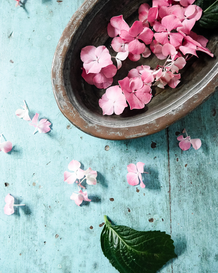 hydrangea florets via perfectly imperfect living