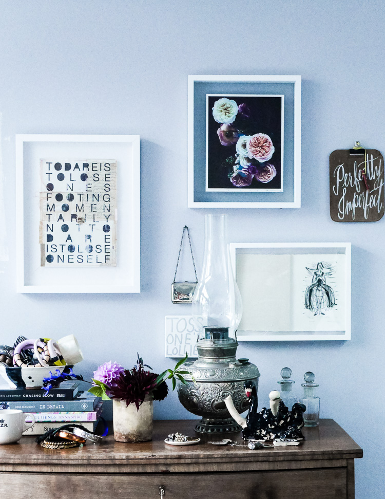 interior style via perfectly imperfect living
