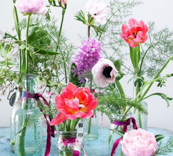 spring flowers via perfectly imperfect living