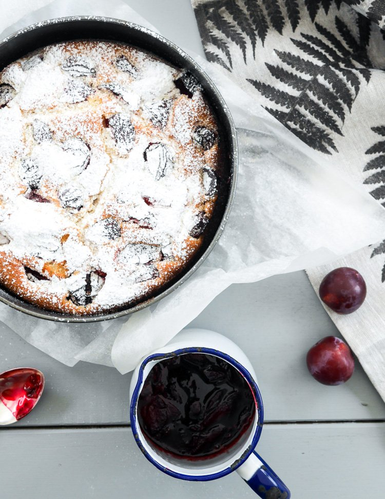 summer plum cake via perfectly imperfect living