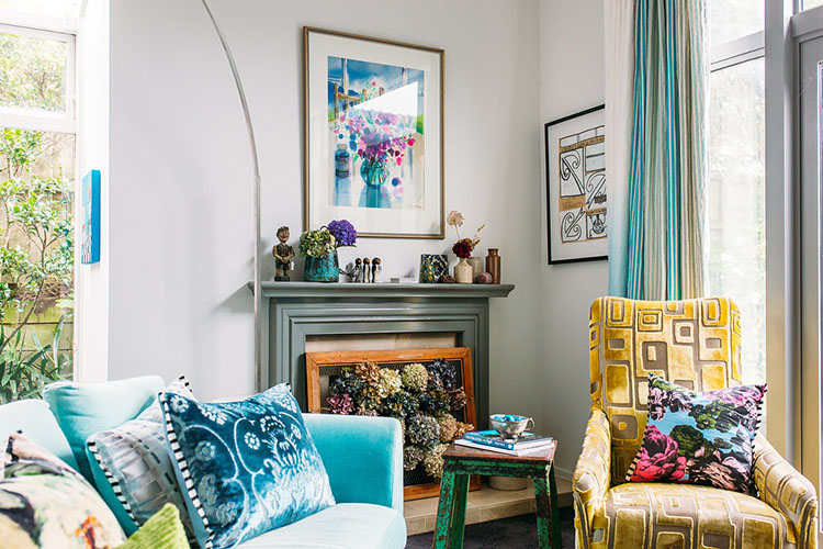 colour and pattern in the home via perfectly imperfect living