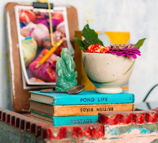 bedside display via perfectly imperfect living