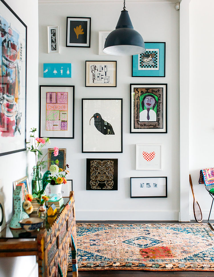perfectly imperfect style - a gallery wall with personality
