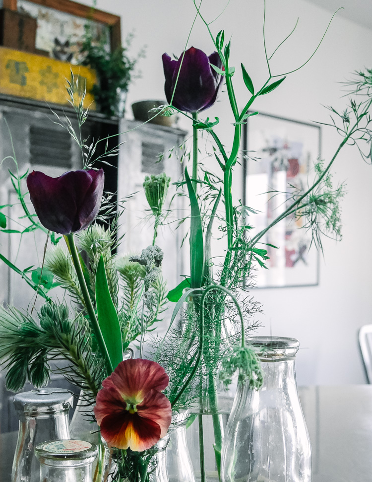 foraged flora via perfectly imperfect living